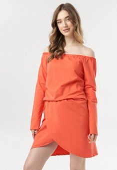 Pomarańczowa Sukienka Metiothyia