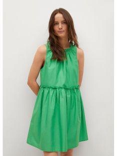 Mango Sukienka letnia Mikonos 17090185 Zielony Regular Fit