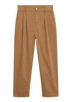 Mango - Spodnie materiałowe - brązowy