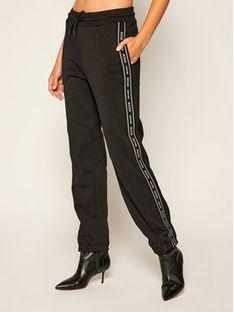MSGM Spodnie dresowe 2941MDP68 207799 Czarny Regular Fit