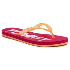 Japonki TOMMY JEANS - Pop Color Beach Sandal EN0EN00849 Blush Red XIF