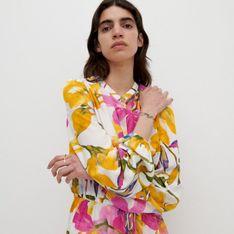 Reserved - Sukienka z wiskozy - Różowy