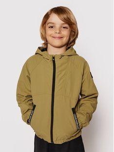 Calvin Klein Jeans Kurtka przejściowa Monogram Badge IB0IB00856 Zielony Regular Fit