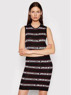 LOVE MOSCHINO Sukienka dzianinowa WS52R10X 1422 Czarny Regular Fit