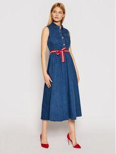 Liu Jo Sukienka jeansowa UA1168 D4435 Granatowy Regular Fit
