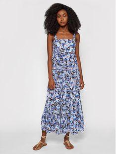 Seafolly Sukienka letnia Thrift Shop Tiered 54254-DR Niebieski Relaxed Fit