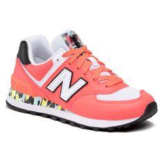 Sneakersy NEW BALANCE - WL574CU2 Pomarańczowy