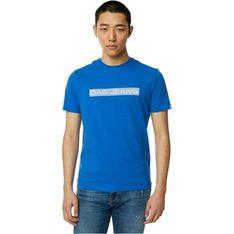 T-shirt męski Gas z bawełny z napisami z krótkimi rękawami