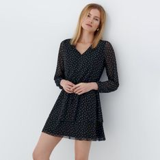 Mohito - Sukienka mini w kropki - Czarny