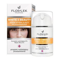 FlosLek Pharma White & Beauty, krem wybielający przebarwienia na twarzy, 50 ml