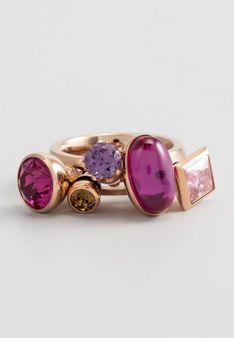 Melano Jewelry - Pierścionek - Złocenie: różowe złoto - cyrkonia - różowy