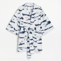 Reserved - Żakardowe kimono z autorskim printem - Wielobarwny