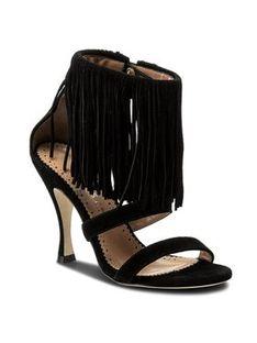 TwinSet Sandały Sandalo CS8TA1 Czarny