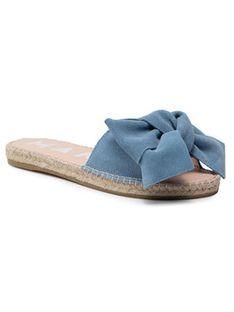 Manebi Espadryle Sandals With Bow M 3.0 J0 Niebieski