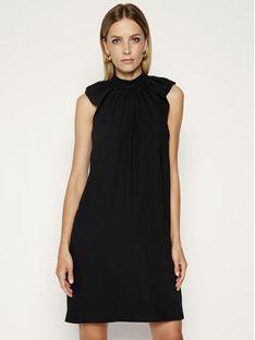 Victoria Victoria Beckham Sukienka koktajlowa Fluid Crepe 2220WDR001185B Czarny Regular Fit