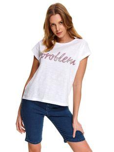 T-shirt damski w nadrukowanym napisem