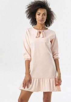 Jasnoróżowa Sukienka Morgalla