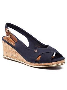 Wrangler Sandały Panama Mila WL11653A Granatowy