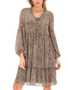 Zwiewna sukienka we wzór panterki L'AF PANDORA