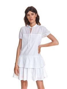 Ażurowa sukienka z wiązaniem pod szyją