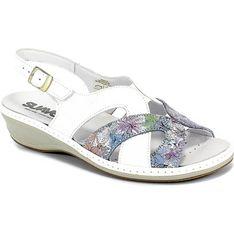 Sandały damskie Suave skórzane letnie casualowe na koturnie