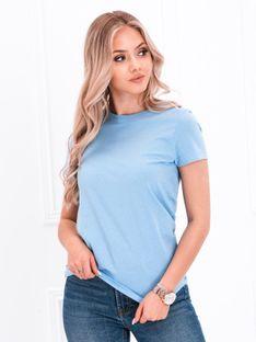 T-shirt damski basic 001SLR - błękitny
