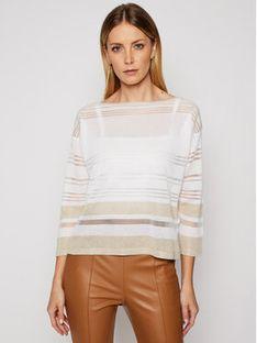 Luisa Spagnoli Sweter Caifa 0656546 Biały Regular Fit