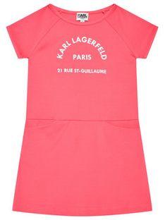KARL LAGERFELD Sukienka codzienna Z12171 D Różowy Regular Fit