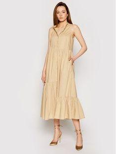 TwinSet Sukienka codzienna 211TT2458 Brązowy Regular Fit