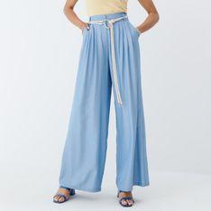 Mohito - Spodnie wide leg - Niebieski