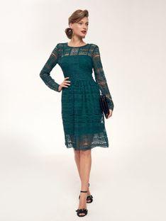 Sukienka fit and flare z koronki