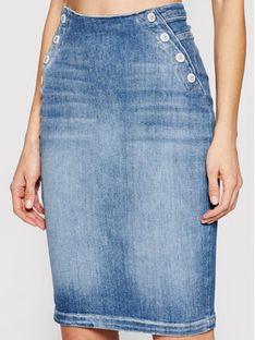 Guess Spódnica jeansowa Gwenda W1GD36 D46AA Niebieski Slim Fit