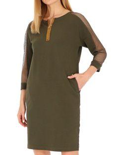 Sportowa sukienka z siateczkowymi wstawkami L`AF FOREST