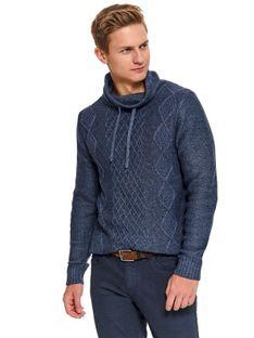 Sweter golf z przeplotami