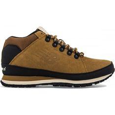 Brązowe buty trekkingowe męskie New Balance zimowe skórzane sznurowane