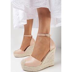 Sandały damskie Born2be eleganckie z klamrą