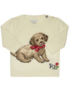 Polo Ralph Lauren Sweter Dog 310787279001 Biały Regular Fit