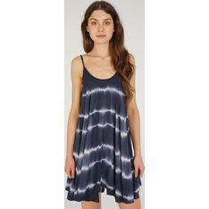 Unisono sukienka luźna z okrągłym dekoltem letnia