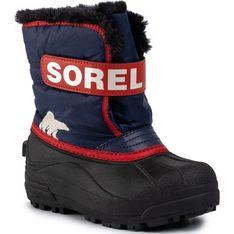 Buty zimowe dziecięce Sorel z napisem śniegowce