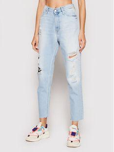 Calvin Klein Jeans Jeansy J20J217150 Niebieski Mom Fit