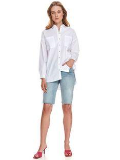 Biała koszula o luźnym kroju