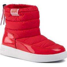 Pepe Jeans buty zimowe dziecięce bez wzorów czerwone bez zapięcia