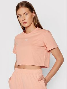 adidas T-Shirt adicolor Essentials Cropped H37883 Różowy Standard Fit