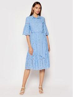 Rinascimento Sukienka koszulowa CFC0103470003 Niebieski Regular Fit