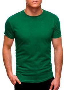 T-shirt męski basic 970S - zielony