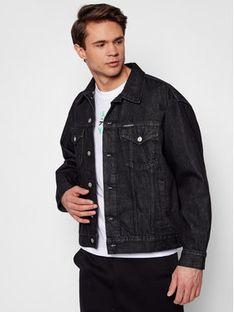 Calvin Klein Jeans Kurtka jeansowa J30J318076 Czarny Regular Fit