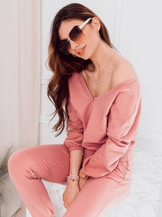 Bluza damska bez kaptura 014TLR - różowa