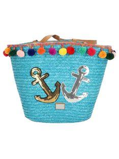 Pleciona niebieska torebka plażowa Verde16-0004705