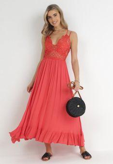 Koralowa Sukienka Coridoe