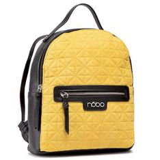 Plecak NOBO - NBAG-J3650-CM17 Żółty z Czarnym